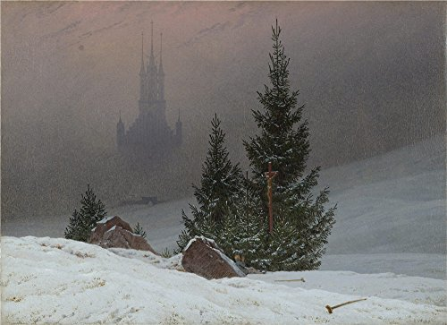 Oil Painting 'Caspar David Friedrich - Winter Landscape,probably 1811', 16 x 22 inch / 41 x 56 cm , on High Definition HD canvas prints is for Gifts And Game Room, Garage And Hallway Decoration, HD]()