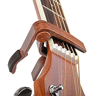 Rinastore 6-String Acoustic & Electric Guitar Capo- Single Handed Quick Change Capo