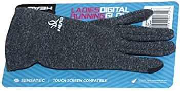 HEAD Sensatec Touchscreen Ladies Digital Running Gloves (Large, Heather (Gray)) 746481