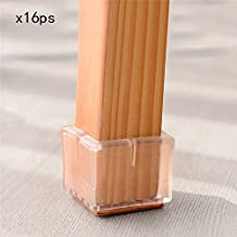 Sundlight Chair Leg Floor Protectors Square Chair Table 16Pcs