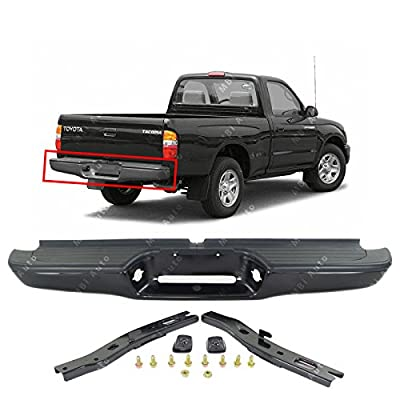 MBI AUTO - Primered Steel, Complete Rear Bumper Assembly for 1995-2004 Toyota Tacoma Pickup 95-04, TO1102214: Automotive