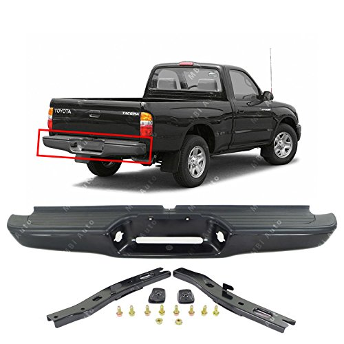 (MBI AUTO - Primered Steel, Complete Rear Bumper Assembly for 1995-2004 Toyota Tacoma Pickup 95-04, TO1102214)