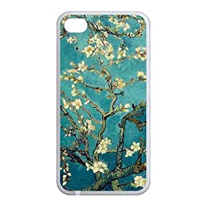 Cherry Blossom Painting Style On Blue Background Design Luxury Cover Case For Iphone 6 (4.7inch)(White) with Best Plastic ALL MY DREAMS