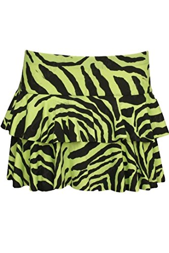 Colored Zebra Print Mini Ra Ra Skirt for 80s Dress-up - 4 colors.