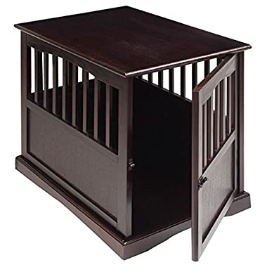 Wooden Furniture Pet Crate, Color Espresso (Large)