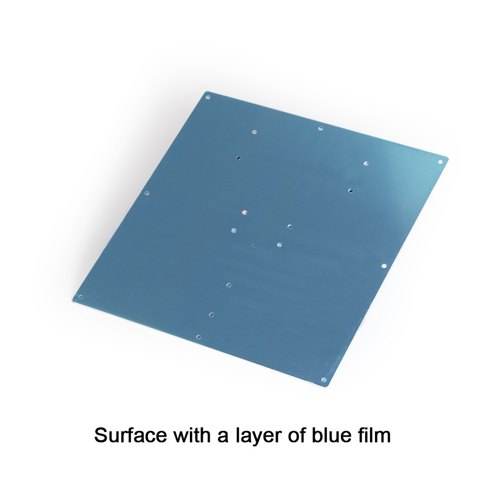 3D Printer Aluminum Heated Bed Build Plate,Aluminum Plate for heatbed MK2 of 3D Printer,220X220X2mm Co-link
