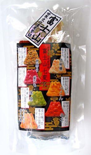 【袋】世界文化遺産富士山を模った 富士山七変化 富士山せんべい 21枚入