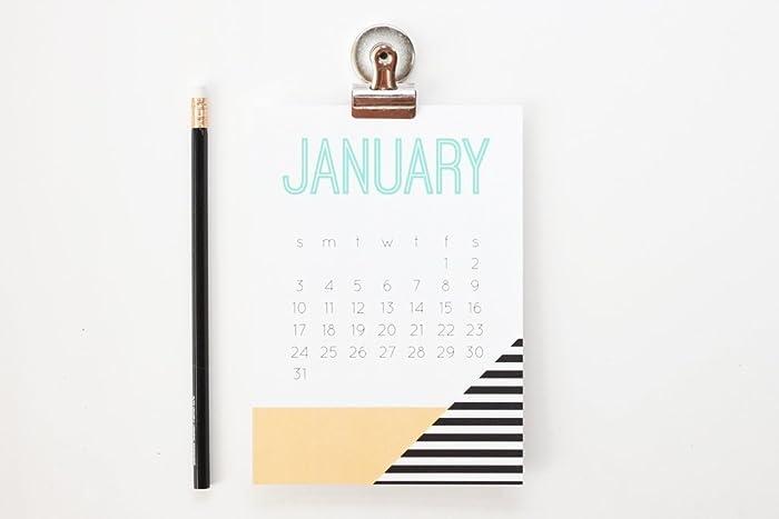 Amazon.com: 2018 Wall Calendar Monthly Teacher Gifts Geometric ...