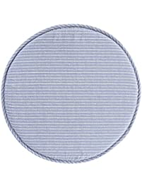 limam fabric chair seat student thickened round pad bar stool pad blue - Bar Stool Cushions