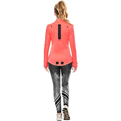 Babalu Fashion Slim Fit Zippered Sweatshirts For Women Fitness Workout Jackets For Women Chaqueta Deportiva Sudaderas Para Mujer Neon Coral One Size at ...