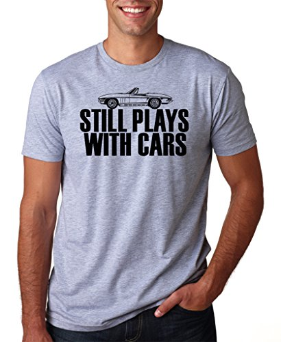 SignatureTshirts Men's Still Plays With Cars T-Shirt (Black Print) XL Sport Grey ()