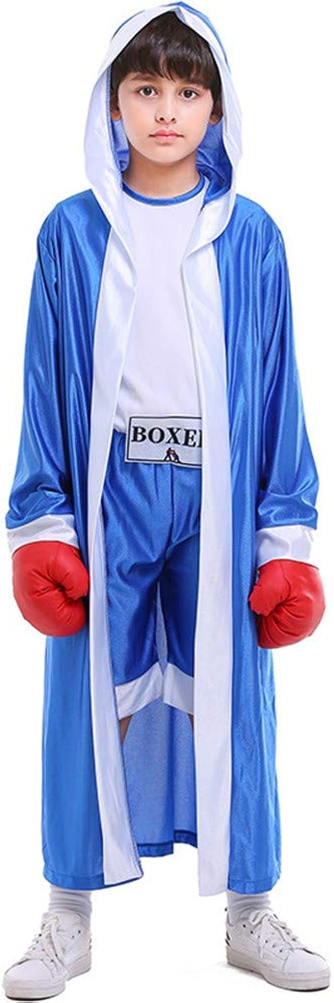 Amazon.com: Disfraz de boxeo para niños, color rojo, azul y ...