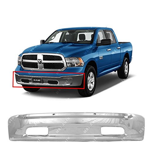 MBI AUTO - Chrome, Steel Front Bumper Face Bar for 2013-2018 RAM 1500 Pickup 13-17, CH1002397