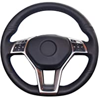 KSUVR Hand-stitched Black Steering Wheel Cover,for Mercedes Benz A-Class 2013-2015 CLA-Class C-Class 2013 2014