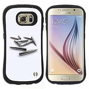 "Hypernova Slim Fit Dual Barniz Protector Caso Case Funda Para Samsung Galaxy S6 [Bullet Oro MM""]"