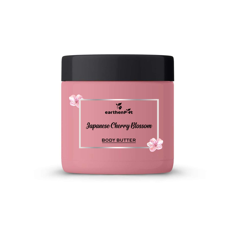 EarthenPot Japanese Cherry Blossom Body Butter For Deep Moisturizing, 200 g