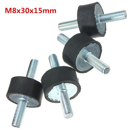 QOJA 4pcs m8 30mmx15mm rubber mounts shock absorber vibration isolator by QOJA