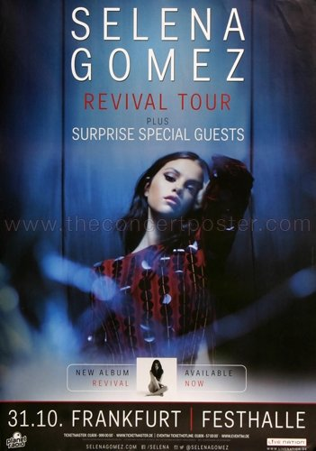 Selina Gomez - Revival Now 2016 - Concert Poster