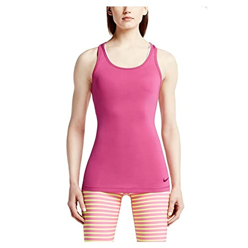 ee61516dbcea73 Amazon.com  New Nike Women s Pro Hypercool Fitted Tank 2.0 Hot Pink Dark  Fireberry Small  Sports   Outdoors