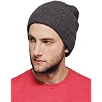 1 Voice Bluetooth Beanie with Built-in Wireless Headphones - Charcoal