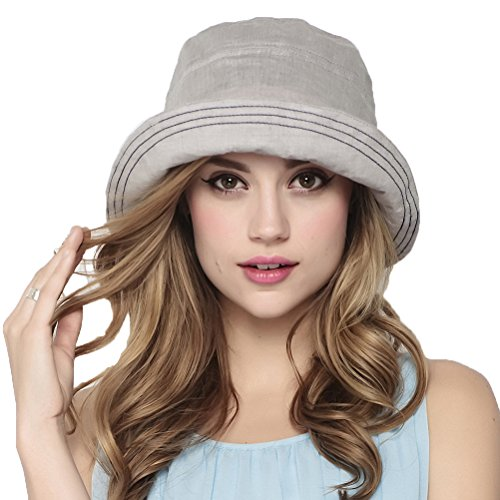 "Maitoseâ""¢ Womens Summer foldable Sun Protection Gardening Sun Hat Gray"