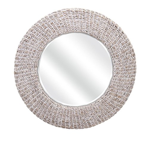 Water Hyacinth Round Mirror (Imax 11669 Madiera Water Hyacinth Wall Mirror)