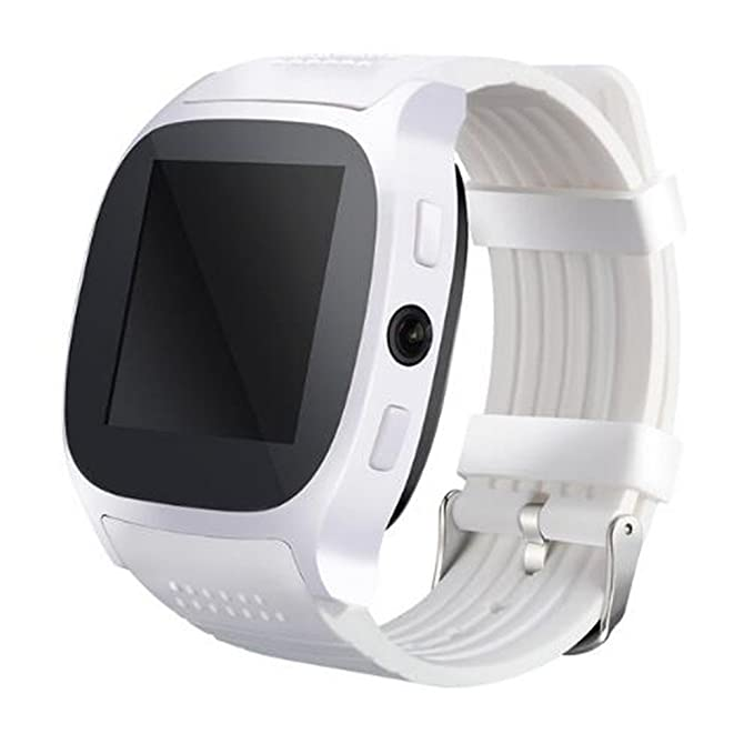 T8 Smartwatch Bluetooth Smart Watch With Camera Support LBS Positioning Pedometer/Music Player/Facebook/Whatsapp Sync SMS Support SIM TF Card For ...