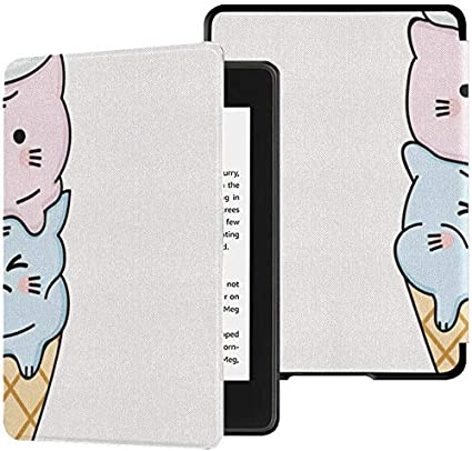 Funda para Kindle Paperwhite 2018 Kawaii Fat Cute Cat Fundas de ...