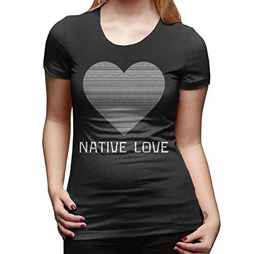 Tai Tower Chi (Native Love Tribal Heart Women's Basic Short Sleeve Tops Crew Neck T Shirt XXL)