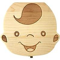 ASGV Wooden Kids Baby Tooth Box Organizer Milk Teeth Wood Storage Box For Boy Girl (Boy)