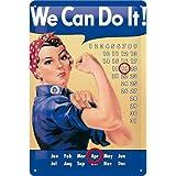 Nostalgic-Art 20235 USA We Can Do It Kalender Blechschild, 20 x 30 cm