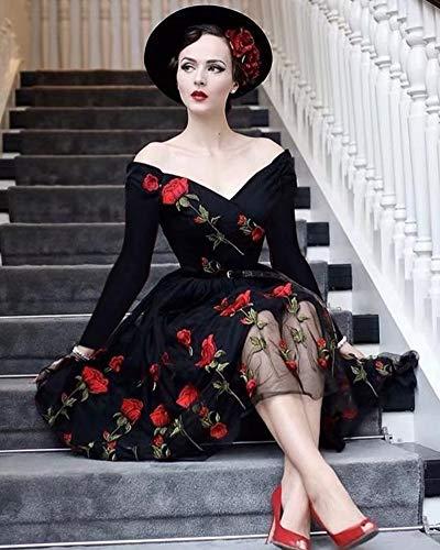 Valentine A-Line long sleeve Dresses