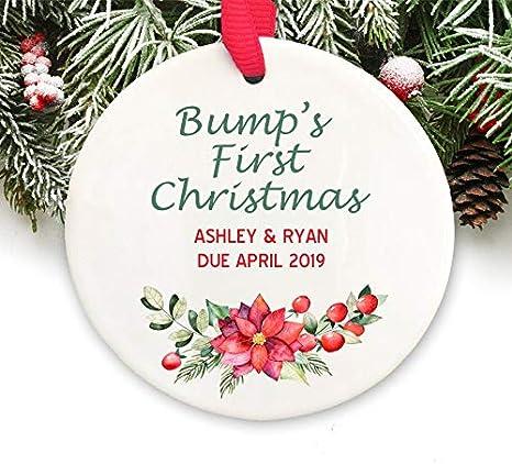 Dozili - Adorno de Navidad para Embarazo, Regalo para Mujer Embarazada, Adorno de Navidad Personalizado