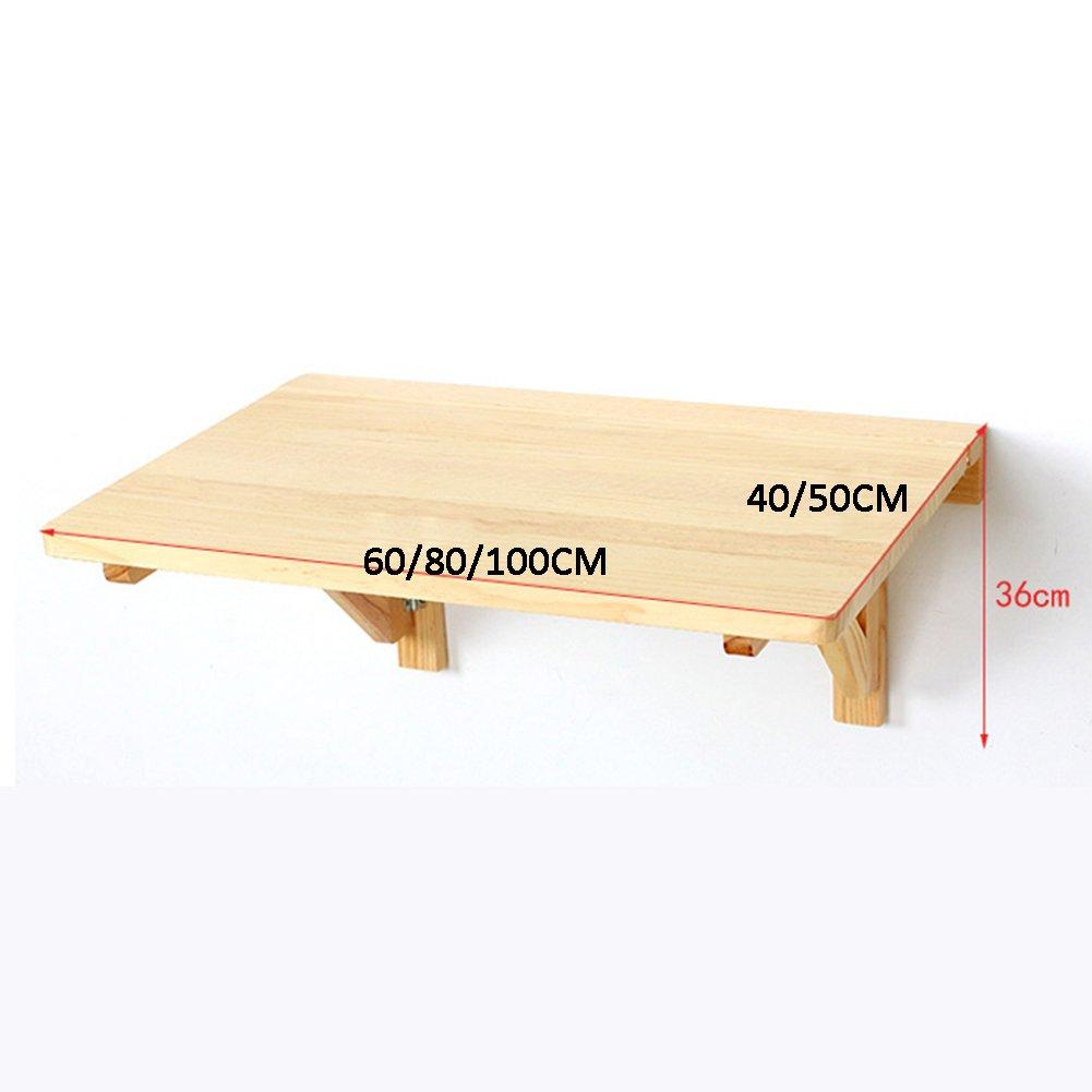壁松折りたたみテーブルコンピュータデスクデスクホームアクセサリーシンプルファッション多機能、ウッドカラー、3サイズ B07RV1H632