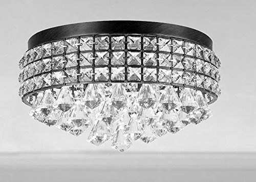 black and crystal chandelier - 3