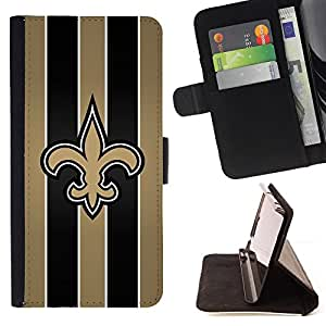 For Apple Iphone 5 / 5S Saints Sports Team Beautiful Print Wallet Leather Case Cover With Credit Card Slots And Stand Function