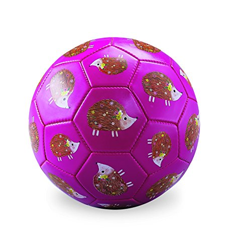 Ball Hedgehog (Crocodile Creek 2213-9 Hedgehogs Soccer Balls, Size 3, Pink/Yellow/Green/Brown/White/Tan)