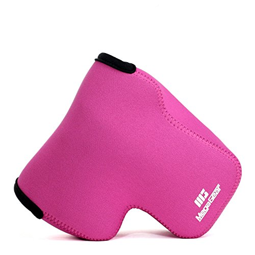Megagear Sony Cyber-Shot DSC-RX10 IV, DSC-RX10 III Ultra Light Neoprene Camera Case, with Carabiner - Hot Pink - MG758