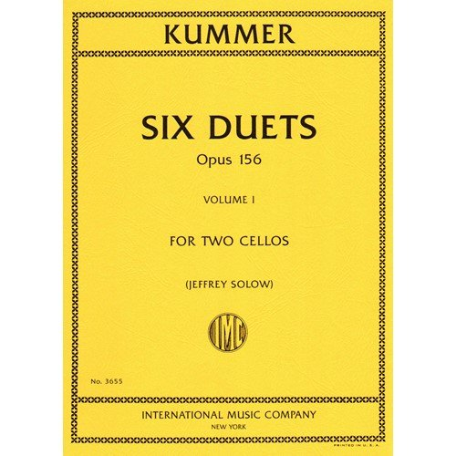 Kummer, F.A. - Six Duets, Op. 156, Volume 1 - Two Cellos - edited by Walter Schulz - International