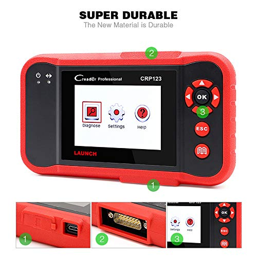LAUNCH OBD2 Scanner CRP123 Check Engine/Transmission/Airbag/ABS Car Fault Code Reader,Live Data Graphing,Free Update, Car Panel Removal Tool As Gift by LAUNCH (Image #8)