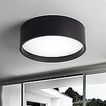 Modern LED Pendant Flush Mount Ceiling Fixtures Light Adjustable LED Ceiling Light Round Black Ceiling Light, 48CM 36W