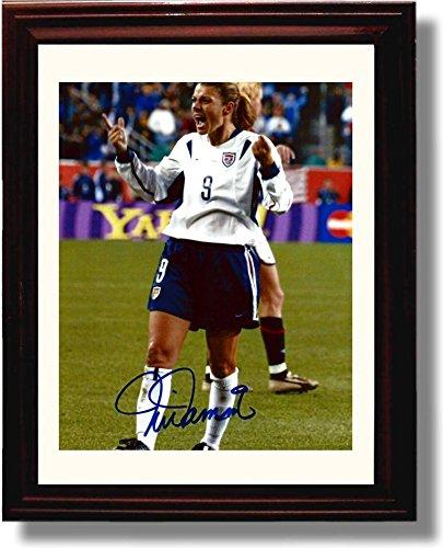 Framed Mia Hamm Celebration - US Soccer Autograph Replica Print