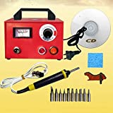 TOPCHANCES 110V 60W Pyrography Machine Gourd Wood Burning Pens Crafts Tools Kit