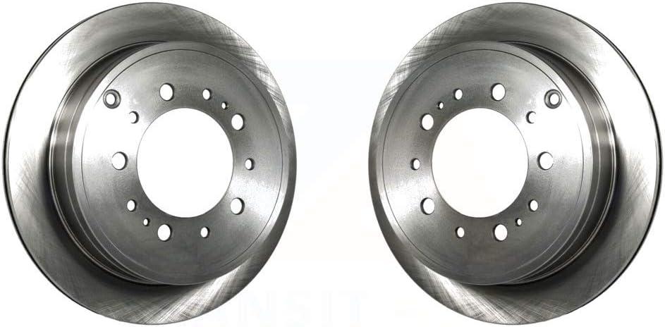 Rear Disc Brake Rotors Pair For Toyota Tundra Sequoia Lexus LX570 Land Cruiser