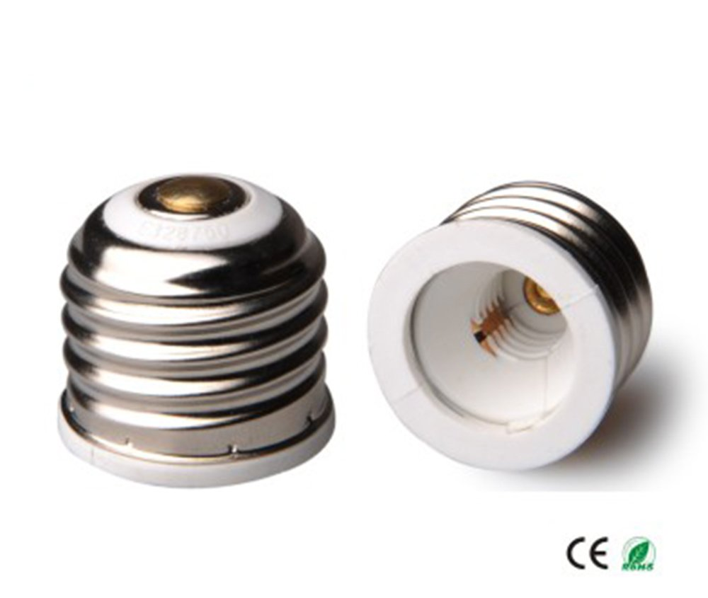 E-Simpo 15-pack E26 to E11 Adapter, E26 to E11 Lamp Base Converter, E26 to E11 Reducer, Allow you install E11 Lamp into E26 socket. CE Rohs. E11-E26
