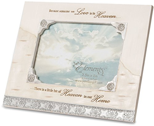 Elements Angels 82431 Picture Frame - Pewter Angel Photo Frame Ornaments