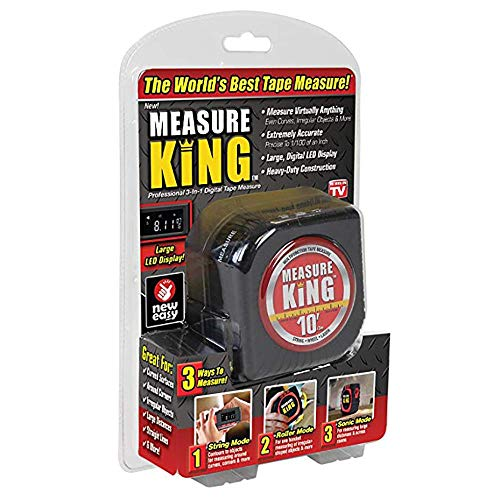 (Digital Tape Measure, 3 in 1 LED Digital Display Laser Measure King All and Any Surfaces with Sonic Mode & Roller Mode #7732)