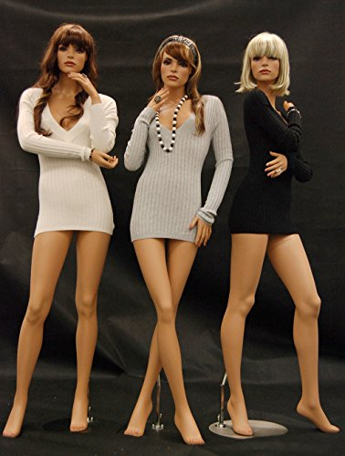 (MD-FR-8-9-10-Group) ROXYDISPLAY™ 3 Female mannequins, with 3 different elegant fashion style poses. (Including: MD-FR8 MD-FR9 ()