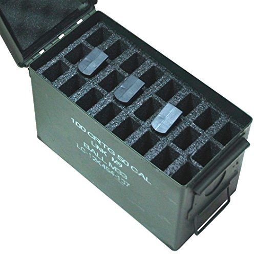 Case Club 24 Magazine Holder .50 Cal Ammo Can Foam (Pre-Cut, Closed Cell, Military Grade Foam) (Magazine Feed)