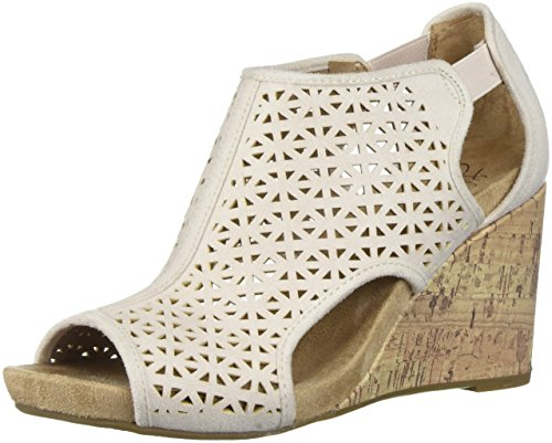 LifeStride Women's HINX 2 Wedge Sandal, Soft Blush, 9.5 W US (Cache Dresses For Women)